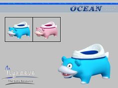 Ocean Toddlers - Potty Found in TSR Category 'Sms 4 Toilets' Sims 4 Tsr, My Sims, Sims Cc, Toddler Potty, Sims 4 Toddler, Toddler Stuff, Sims 4 Cc Furniture, Toddler Furniture, Sims 4 Bedroom