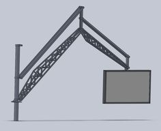 LCD Screen Gantry: Shown here is a monster screen gantry, with a screen mounted to a gantry with a foot) maximum reach. The gantry is self balancing so you just shift the screen to position and leave it there, no mean feat with a screen! The screen. Mechanical Advantage, Thing 1, Project Ideas, Projects, Shop, Wrought Iron, Log Projects, Blue Prints, Ideas For Projects