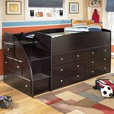 """I don't have a ton of wall space for furniture in the """"big boy"""" room, but this solves that problem!"""
