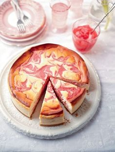 This show-stopping rhubarb and lemon cheesecake recipe looks and tastes absolu