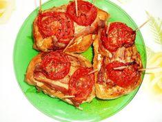 Karácsonyi lazac narancságyon | Orchideacska receptje - Cookpad receptek Zucchini, Bacon, Vegetables, Food, Essen, Vegetable Recipes, Meals, Yemek, Pork Belly