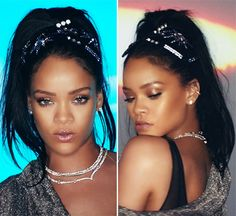 Rihanna Rocks Bejeweled Pony In 'This Is What You Came For' Video — Get The Look