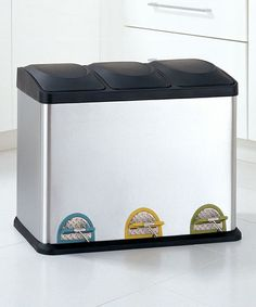 Take a look at this Medium Step-On Recycling Bin by Organize It All on #zulily