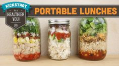 Super idea! Portable Lunches In A Jar - Kin Community Collab - Kickstart to a Health...