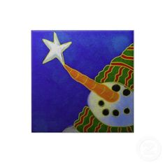 Funky Christmas art tiles.  $14.35