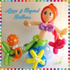 Mermaid balloon sculpture