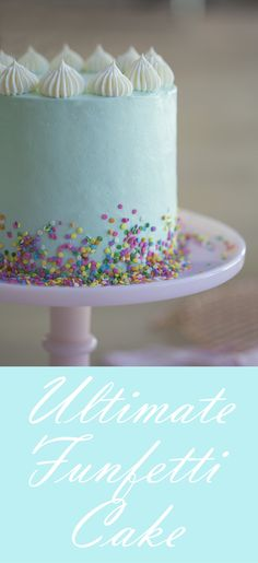 The perfect birthday cake no matter what color you choose!