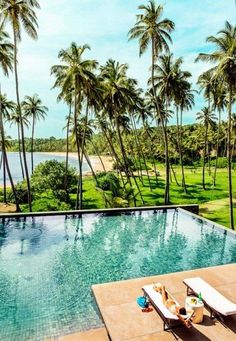 Amanwella, a modernist perch in Tangalle, on Sri Lanka's southern coast. #travel