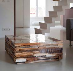 Fancy - Scrapwood Coffee Cube by Piet Hein Eek