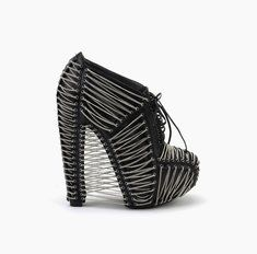Iris van Herpen X United Nude Crystallization Crystallization Black Nappa + Chain.  Want is an understatement...