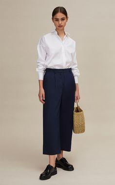 Le pantalon loose en coton léger femme - femme pantalons coton - Maisonstandards