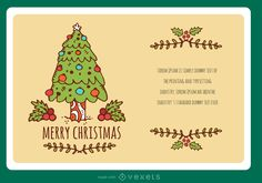 Stylish Xmas greeting card creator including beautiful alternatives of elements to decorate it. Add text immediately on Vexels online editor and give your personal touch. This year xmas cards are unique!