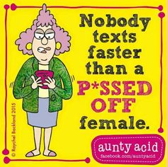 Nobody texts faster than.....
