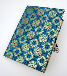 Indian pattern journal navy blue hand bound by NickySalmonMakes, £7.50