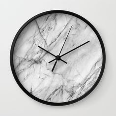 Carrara marble Wall Clock by patternmaker Marble Room Decor, Marble Bedroom, Marble Wall, Marble Print, Marble Bedding, Wall Decor, House Lamp, Accessoires Iphone, Ideas