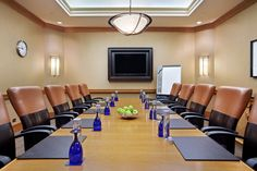 The executive boardroom at the Hilton has all the amenities you need for a smooth-sailing meeting. #MeetInDuPage