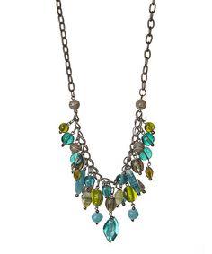 Turquoise & Green Stone Necklace #zulily #zulilyfinds