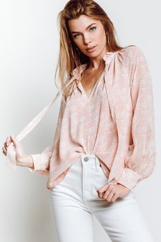 Rebecca Minkoff Viko Blouse in Light Pink