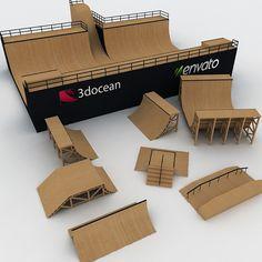 Mega Halfpipe Skate Park Bundle by Autorama_Films Finger Skateboard, Skateboard Ramps, Skateboard Design, Skateboard Art, Mini Skate, Skate Ramp, Backyard Skatepark, Bmx Ramps, Tech Deck