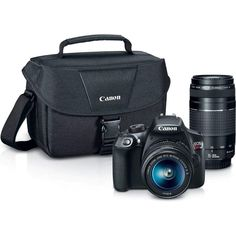 Canon Digital SLR Camera Kit [EOS Rebel with EF-S and EF Zoom Lenses - Black : Camera & Photo Best Digital Camera. Equipped with built in Wi Fi and NFC to make wireless sharing of photos . Canon Dslr, Nikon D5200, Cincinnati, Cameras Nikon, Leica Camera, Film Camera, Camera Case, Camera Tripod, Lens