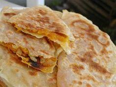 Pumpkin pancakes from Azerbaijan (Balgabag gutabi)