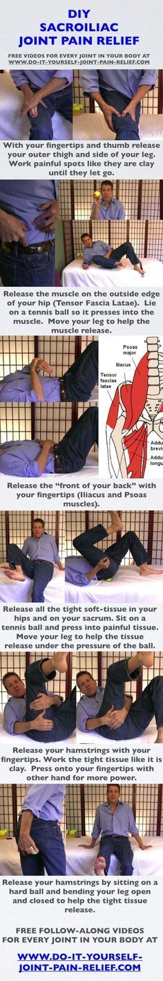 DIY Sacroiliac Joint Pain Relief joint pain relief