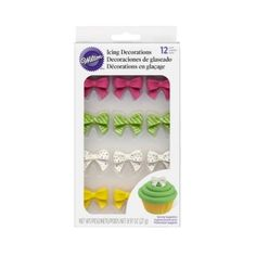 WILTON BRIGHT BOWS  12 PACK