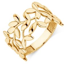 Combining fashion with a deeper meaning, this 10kt yellow gold ring is a gorgeous choice. Symbolising peace, the olive branch design creates a gorgeous gift for yourself or a loved one.