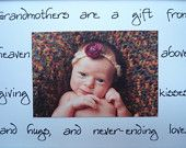 3 grandparents gifts godparents grandmother by riricreations Homemade Gifts, Diy Gifts, Godparent Gifts, Name Day, Baby Art, Baby Love, Fun Ideas, Craft Ideas, First Love
