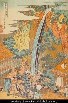 Roben Waterfall at Oyama in Sagami Province (Soshu Oyama Roben no taki) - Katsushika Hokusai - www.katsushikahokusai.org