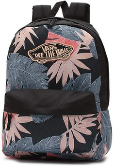 The Realm Backpack is a polyester two-pocket backpack with a zippered main compartment, a front organization pocket, adjustable padded straps, and debossed lining at the interior back panel. Cool Backpacks For Girls, Cute Backpacks For School, Girl Backpacks, College Bags For Girls, Girls Bags, Vans Backpack, Backpack Bags, Mochila Rip Curl, Tie Dye Backpacks
