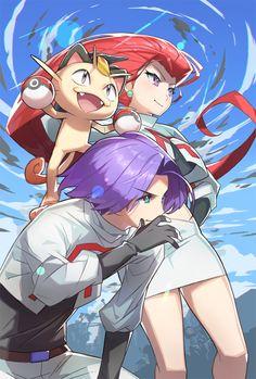 Jessie, James, and Meowth by Saitou Naoki