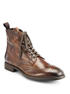 To Boot New York Brennan Wingtip Leather Boots