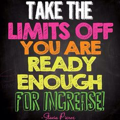 Happy Thursday ! Take the limits off you are ready enough for increase! #quote #myownquote #successdress #motivation #inspiration #motivationalquotes #entrepreneurs #businesswomen #womenceo #womeninbusiness #smallbusinesswomen #goforit #dreambig #business #money #marketing #lawofattraction #staciasuccessshots #successstrategies #lifecoach2women #successchronicles
