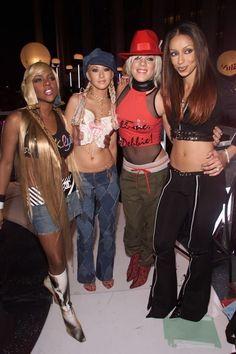 Lil Kim, Christina Aguilera, Pink and Mya 2000s Fashion Trends, Early 2000s Fashion, 90s Fashion, Fashion Outfits, Christina Aguilera, Shakira, Our Lady, Fashion History, Celebs