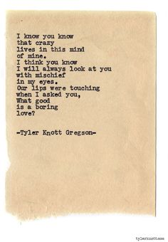 Typewriter Series #854byTyler Knott Gregson *Pre-Order my book, Chasers of the Light, and donate $1 to @TWLOHA and get a free book plate signed by me :) Click the link in my bio, or go here: tylerknott.com/chasers*