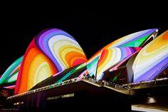 Vivid Sydney - Opera House by Flickr user jdeplater, 2011