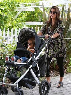 Kourtney Kardashian & UPPAbaby Vista Stroller