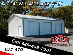 Check out this 24 39 w x 32 39 l x 12 39 h garage 10 39 x 10 for 10 x 8 garage door price