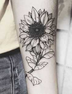 20 More Magnificent Sunflower Tattoos: Representing intelligence, luck, and happiness #flowertattoo; #tattooart; #tattoodesign