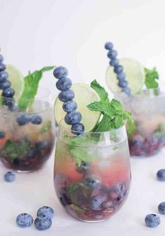Thirsty Thursday: Blueberry Mojito Royale via Domesticate Me