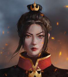 Fanart of Azula. Avatar Airbender, Avatar Aang, Team Avatar, Princesa Yue, Avatar Fan Art, Character Art, Character Design, The Last Avatar, Accel World