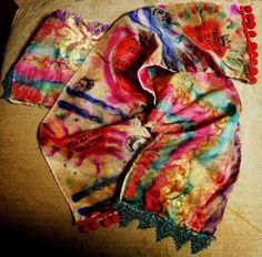 Can use alcohol ink on scarves