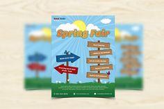 Spring Fair Flyer by grati on @creativemarket