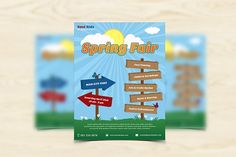 Spring Fair Flyer by grati on @creativemarket