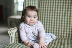Princess Charlotte looks delighted with a cuddly toy dog in a photo taken by her mother, the Duchess of Cambridge.