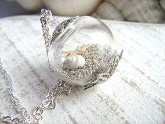Starfish Necklace Seashell Necklace Seashell by SeaMeadowDesigns