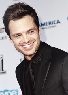 Sebastian Stan and that blinding smile. -- I love him and his eyes lol