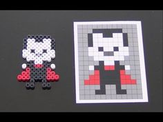 Cute Halloween Vampire Perler Bead Pattern.  Laceys Crafts is all about sharing super simple and adorable crafts for kids. Enjoy!