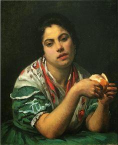 Mary Cassatt - Peasant Woman Peeling an Orange